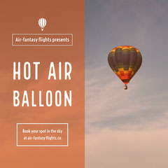 Brown Hot Air Balloon Advertisement Balloon