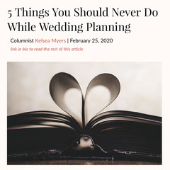 wedding planning article Instagram post  Couple
