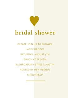 bridal shower  Convite de casamento