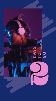 Navy Blue 2 Days To Go Countdown Instagram Story Countdown