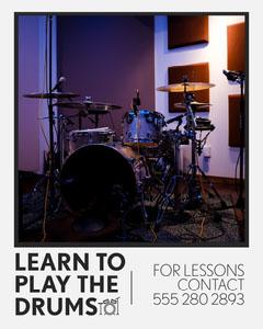 Drum Lessons IG Portrait Crafts