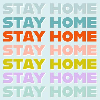 Stay Home Instagram Quote Cartaz sobre a necessidade de ficar em casa