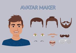 Male Avatar Maker blue Avatar