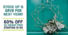Green and White Cold Toned Post Seasonal Sale Facebook Banner Holiday Sale