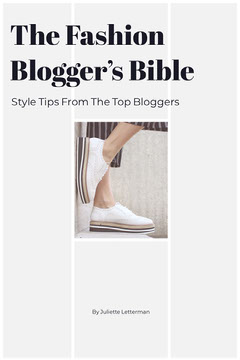 White and Blcak The Fashion Blogger's Bible Cover Shoes