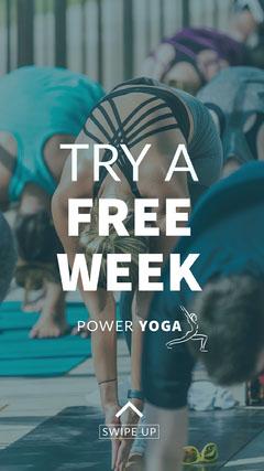 yoga ad Instagram story  Teal
