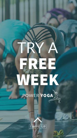 yoga ad Instagram story  Advertisement