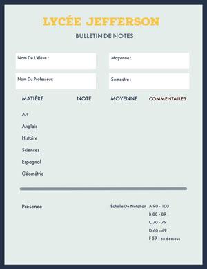 green high school report cards Bulletin de notes