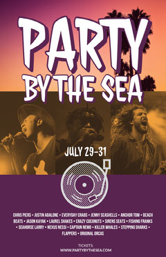 Party by the Sea Music Festival Poster Music Festival Poster