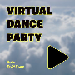 Black Yellow Clouds Virtual Dance Party Playlist Instagram Square DJ