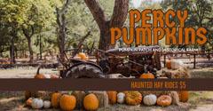 Orange, Autumn Colors Pumpkin Patch Ad Facebook Banner Fall