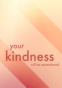 Orange Gradient Sympathy Card with Stripes Lifestyle