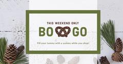 White, Brown and Green, Light Toned Bogo Offer Facebook Banner Bogo