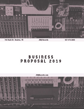 Black and White Record Label Business Proposal with Recording Studio Forslag