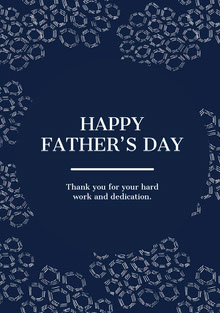 Navy Blue and White Father's Day Card Carte de Fête des pères