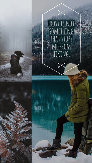 Winter Hiking Instagram Story with Collage Scrapbook Maker
