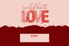 LOVE Valentines Name tag Valentine's Day