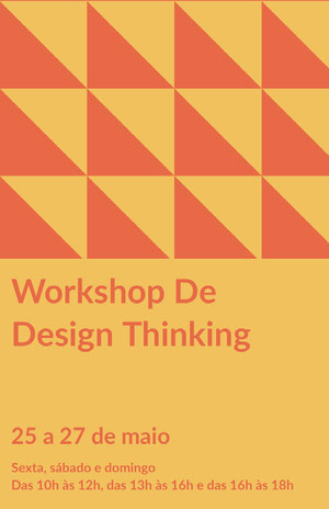 Workshop De<BR>Design Thinking  Pôster de evento