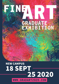 Navy & Vibrant Painting Art Show A4 Poster Exhibition