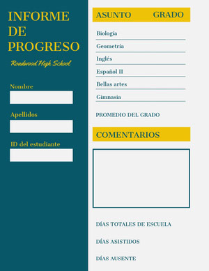 progress report cards Informe
