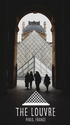 Louvre Paris Snapchat Geofilter with Pyramid France