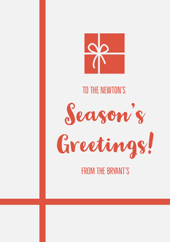 Grey and Red Season's Greetings Card Friends