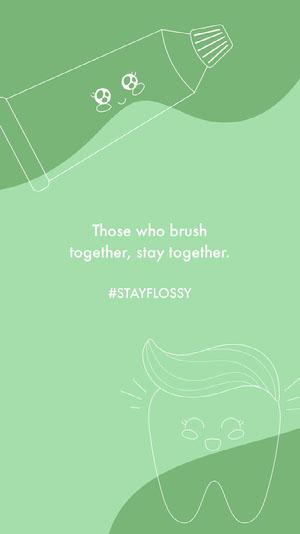 Green Dental Hygiene Instagram Story Dentist Poster