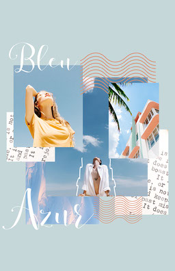 Blue Sea Collage Poster