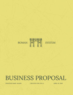 Yellow Business Proposal with Aqueduct Architecture