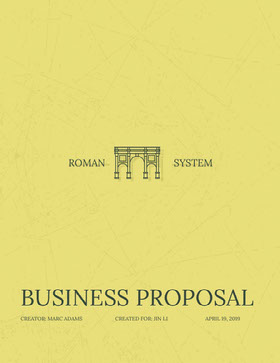 Yellow Business Proposal with Aqueduct Forslag