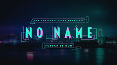 No Name YouTube Channel Art Neon