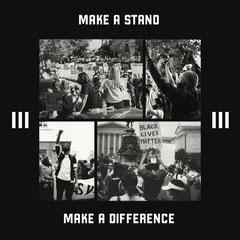 Greyscale Black Lives Matter Instagram Square  Campaign