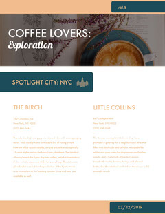 Coffee Enthusiast Newsletter Graphic Cafe