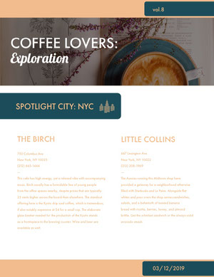 Coffee Enthusiast Newsletter Graphic Uutiskirje