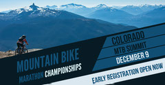 Blue With Mountains View Marathon Championships Promotion Bike