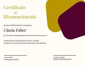Riconoscimento  Certificato