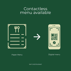 contactless menu instagram  COVID-19 Re-opening
