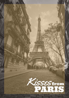 Greyscale & Gold Paris Postcard France