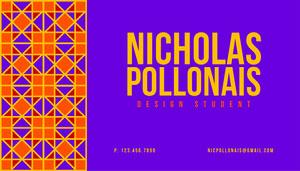 Purple Geometric Design Student Business Card Business Card
