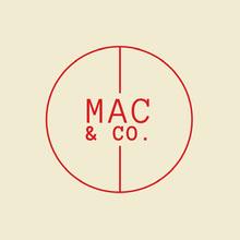 Cream & Red Circle Monogram Logo Logo
