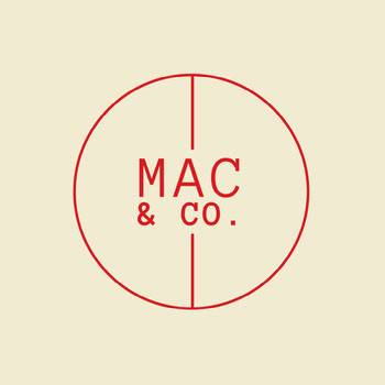Cream & Red Circle Monogram Logo Best Logos Fonts for Your Brand