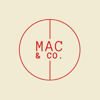 Cream & Red Circle Monogram Logo I migliori caratteri per il tuo logo