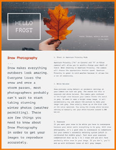 Winter Photography Newsletter Graphic Photography