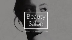 White and Gray Beauty Salon Youtube Channel Art  Makeup