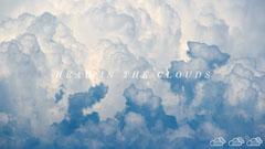 Blue Fantasy Desktop Wallpaper with Clouds Background