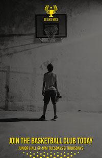 Be Like Mike Basketball Club Poster Basketball