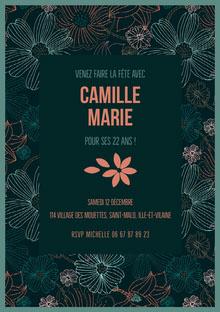 Camille Marie  Carte d'anniversaire
