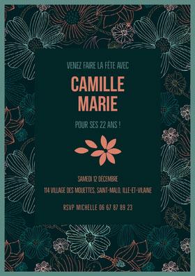 Camille Marie  Invitation d'anniversaire