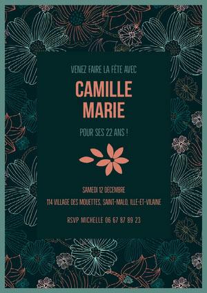 Camille Marie  Invitation à une fête