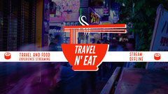 Travel and Food Twitch Banner with Ramen and Chopsticks Japan
